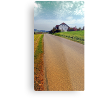 Country road into vibrant scenery | landscape photography Metal Print