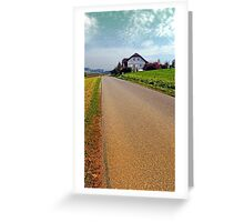 Country road into vibrant scenery | landscape photography Greeting Card