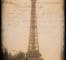 Eiffel Tower Postcard - Paris by Yannik Hay
