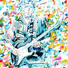 ERIC CLAPTON - watercolor portrait by lautir