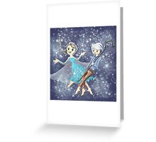 Elsa and Jack Frost Greeting Card