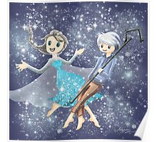 Elsa and Jack Frost Poster