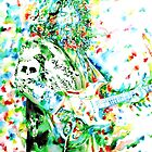 JERRY GARCIA playing the guitar - watercolor portrait.3 by lautir