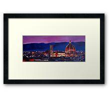Florence Skyline Italy Framed Print
