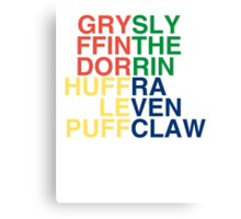 Hogwarts Logo Canvas Print