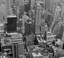 NYC II - B&W by Tom Gomez