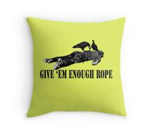 The Clash Give 'em Enough Rope Throw Pillow