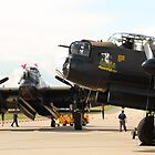 The last two flying Lancasters at RAF Waddington by Jonathan Cox