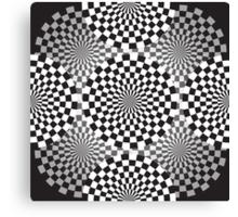 Black and white geometrical background Canvas Print
