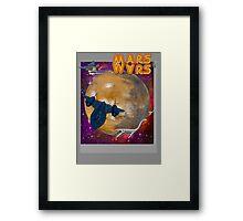 Super Mars Wars. Framed Print