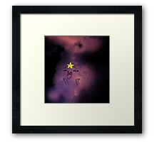Lumpy Space Princess cloud Framed Print