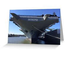 Intrepid Aircraft Carrier and Air and Space Museum, Hudson River, New York City Greeting Card