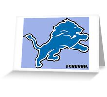 Detroit Lions Forever.  Greeting Card