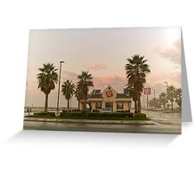fast food sunrise Greeting Card