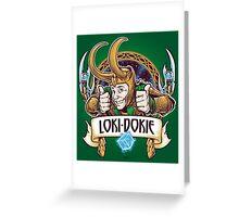 Loki-Dokie Greeting Card