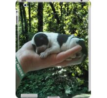 I LEFT FOOTPRINTS IN YOUR HEART EVEN WHILE IM SLEEPING>>LIFE IS PRECIOUS>>DOG -CANINE PICTURE AND OR CARD EC. iPad Case/Skin