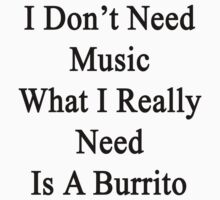 I Don't Need Music What I Really Need Is A Burrito  by supernova23