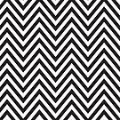 MODERN CHEVRON PATTERN bold monochrome black + white by Kat Massard
