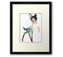 Space Bambi | Heart of Omega Nebula Framed Print