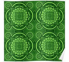 Green Mandala Pattern Poster