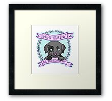 Pups against Patriarchy Framed Print
