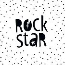 "MODERN POP TYPE bold black monochrome typography ""rockstar"""" by Kat Massard"