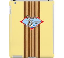 Tandem Surfing Hawaiian Vintage Surf Design  - Yellow iPad Case/Skin