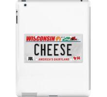 License Plate - CHEESE  iPad Case/Skin