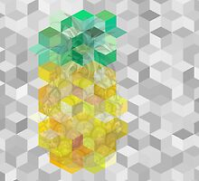Hazy pineapple cubes by tracingtrace