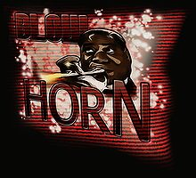 Louis Armstrong - Blow Horn with Bubbles by Laural Retz Studio