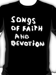 Depeche Mode : Paint of Song Of Faith and Devotion - Only Title T-Shirt