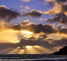 Praa Sands near Sunset by Mike Honour