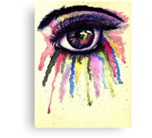 Watercolor Eye in Anime Style Canvas Print