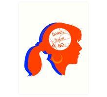 Donna Silhouette Art Print