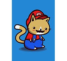 It's-a-me! Meow-rio! Photographic Print