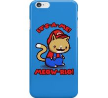 It's-a-me! Meow-rio! (Text ver.) iPhone Case/Skin
