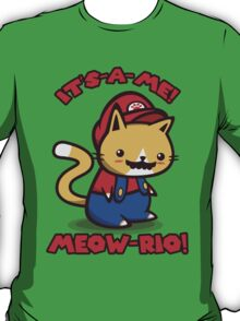 It's-a-me! Meow-rio! (Text ver.) T-Shirt