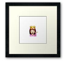 Fabulous Hair Toss Emoji Framed Print