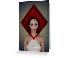 Queen of diamonds portrait Greeting Card