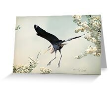 Great Blue Heron in Spring Greeting Card