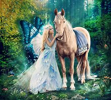 The Blue Fairy and Her Pony by gingerkelly