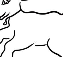 lamb running Sticker
