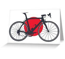 Bike Flag Japan (Big - Highlight) Greeting Card