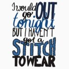 "This Charming Man The Smiths Color ""I Would Go Out Tonight But I Haven't Got a Stitch to Wear"" Typography Quote Indie by wholockism"
