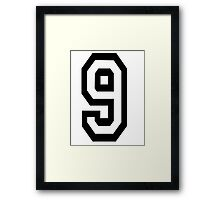 TEAM SPORTS, NUMBER 9, NINE, NINTH, competition Framed Print