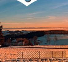 Colorful winter wonderland sundown IV | landscape photography Sticker