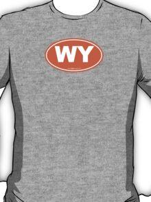 Wyoming WI Euro Oval ORANGE T-Shirt