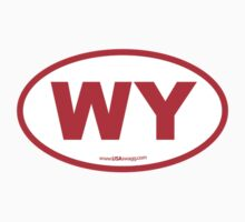 Wyoming WI Euro Oval RED by USAswagg2