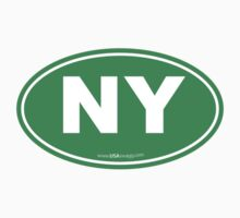 New York NY Euro Oval GREEN Kids Clothes