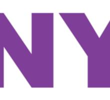 New York NY Euro Oval PURPLE Sticker